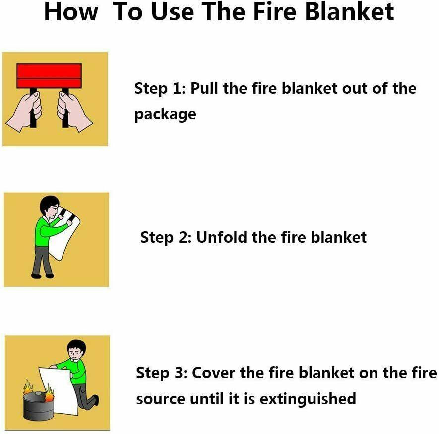 how to use the fire blanket